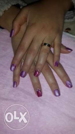 Gelish & gel nail design. Products from Ukraine original in USA.