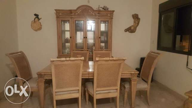 Italian wood living and dining room