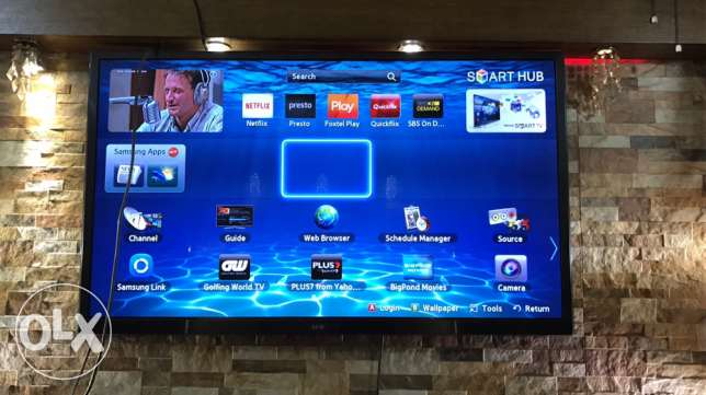 "samsung T.V 62"" smart t.v - 3 HDMI - 2 USB + wi-fi / original remote"