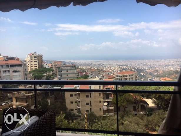 190 Sqm deluxe apartment for rent in Ain Saadeh with panoramic view