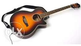 Acoustic guitar original works as an electric guitar