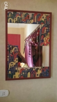Mirror from Palestine that made by wood مرآة