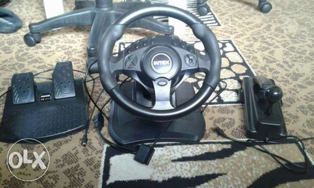 Racing wheel (with all accessories)