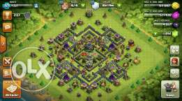 clash of clans th 9 max 7ata ma3 el wall