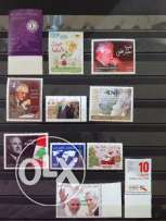 Complete year 2012 Lebanon stamps