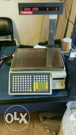 scale and barcode printer
