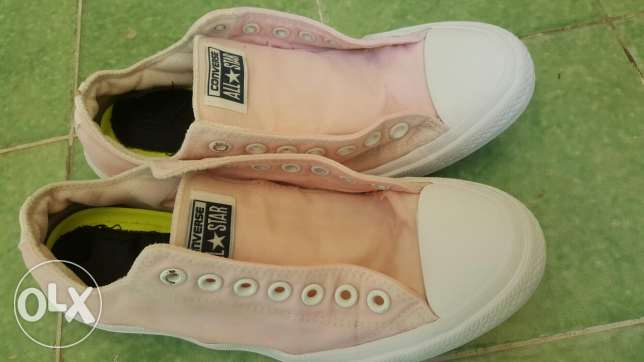 Limited Edition, Pink Converse with white laces