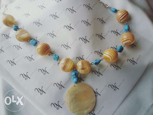 Handmade necklace with seashell