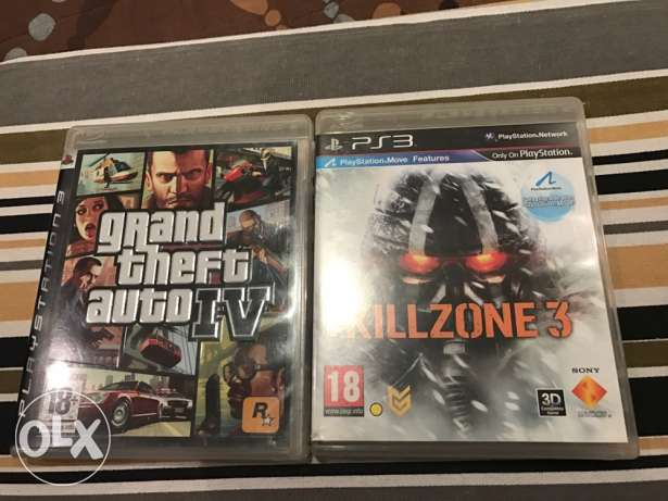 gta4 and killzone 3 for ps3