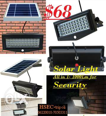 Solar Lighting for OutDoor - prices from $18-$68 up to 1000Lm
