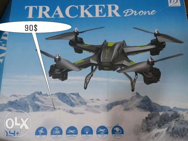 Tracker drone quadcopter طياره