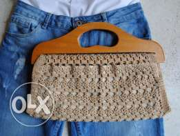 Hand made crochet fashion handbag