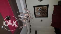 2 aplliques and chandelier for sale