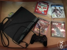 ps3 + 4 games and 1 controller