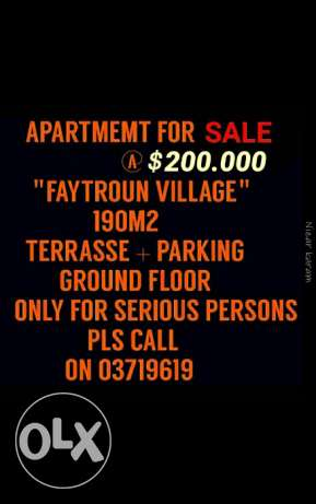 Apartment for sale nestled in Faytroun