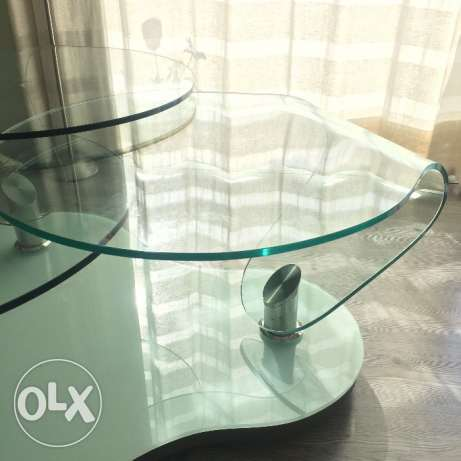 Glass table with chrome بعبدا -  4