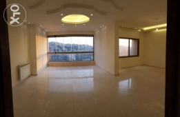 For rent in Al Mansourieh 3 bedroom brand new with AC and central heat