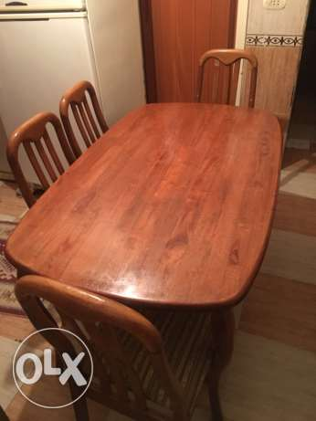 dinning table + 4 chairs for sale