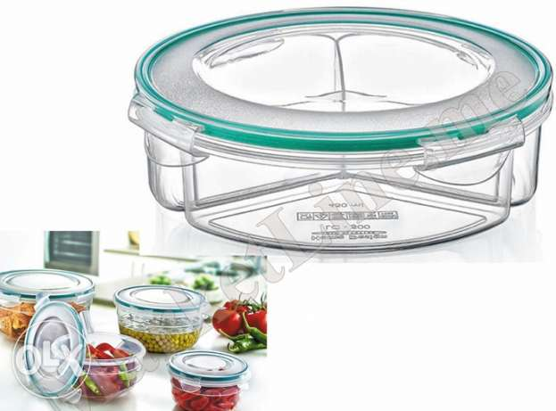 2 Tupperware divided & 3 compressed cover