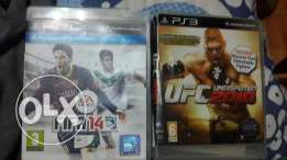 cd ps3 fifa 2014 and ufc 2010 each for 15 dolr