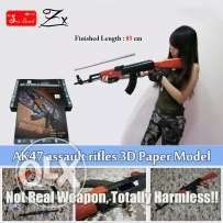 Original Scale 1:1 AK47 3D Paper models