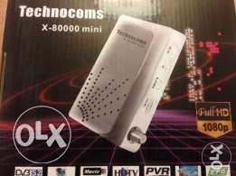 receiver Technocoms mini x-80000HD +1year free Hotbird account