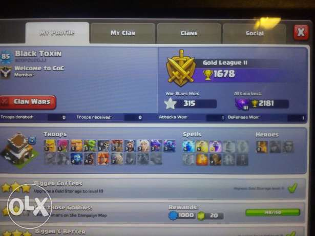 Clash of clans and clash royale accounts
