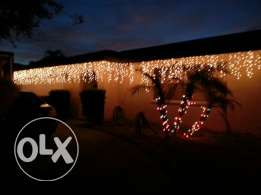 Full christmas lights outdoor