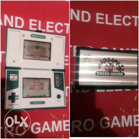 nintendo game and watch ( green house)