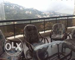 Furnished apartment in Bikfaya / Bekfaya for rent (sea view, pool,gym)