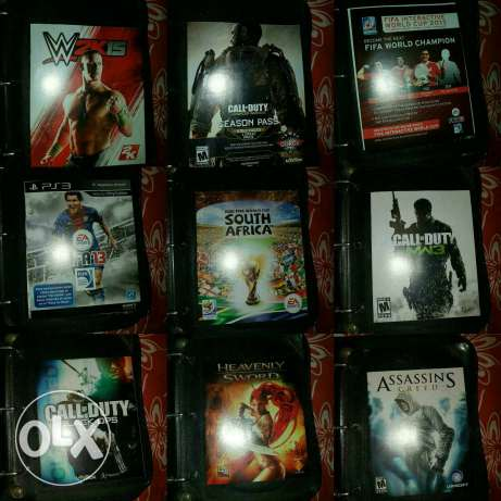PS3 for sale with 12 original video games and 2 controllers عاليه -  2