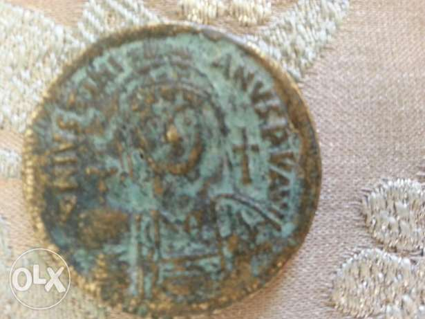 Beyzantine Justinian Ancinet Bronze Coin