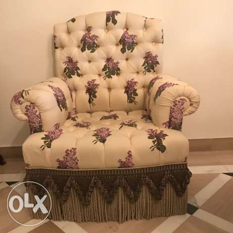 English floral couch