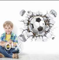 3d stickers Football Soccer ball