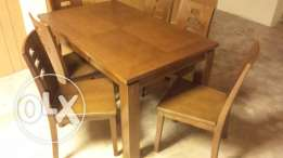 table and six chairs original wood
