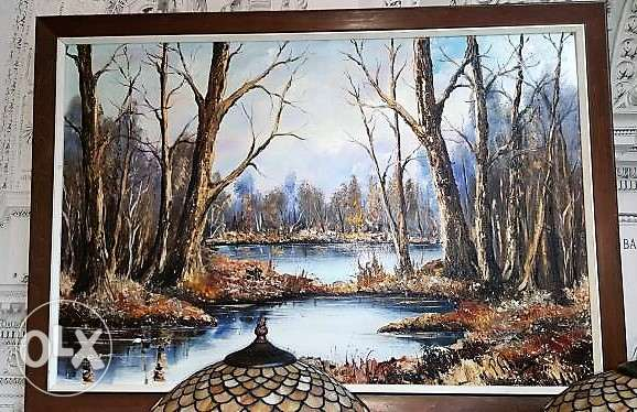 Canadian Furniture Art - Oil Canvas Large Frame