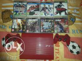 Ps3 slim 500GB red good condition only at 200$