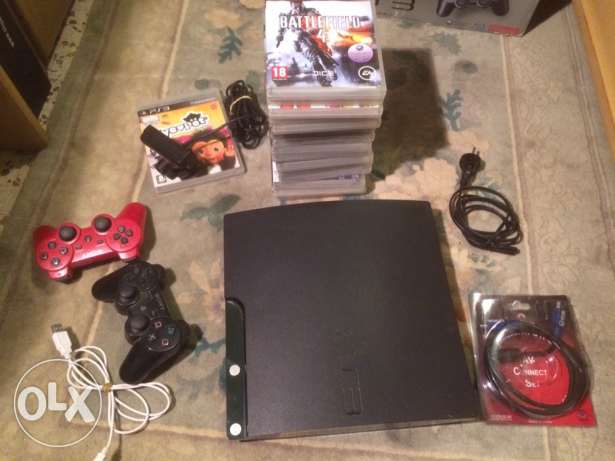 ps3 + 17 games + playstationEye with 1 game بوشرية -  1