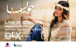 I need at least 2 45000 tickets for Julia Boutros Concert at Waterfront City
