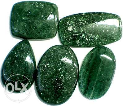 green colombian Aventurine for cabochon and rings