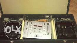 Pioneer dj set (mixer & cd decks) + original cd album collection