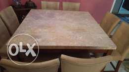 Dining set ( table and 8 chairs, buffet)