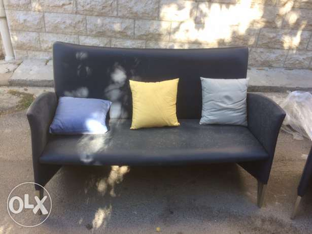 leather sofa and feauteuil الشوف -  3