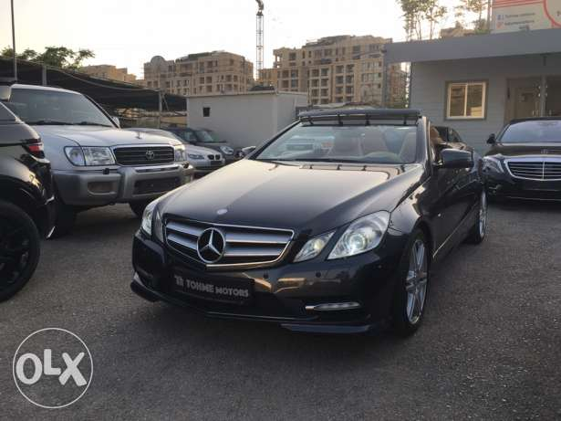 Mercedes E250 convertible 2012 AMG-LINE, grey on brown, 40.000km, TGF!