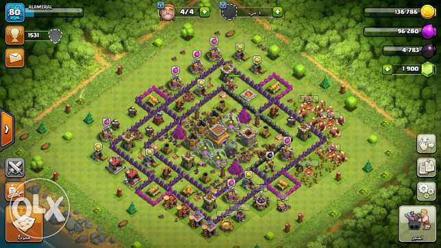 2 game Clash of clans for sell