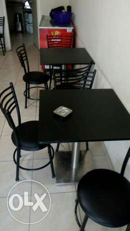 tables and chairs for snack