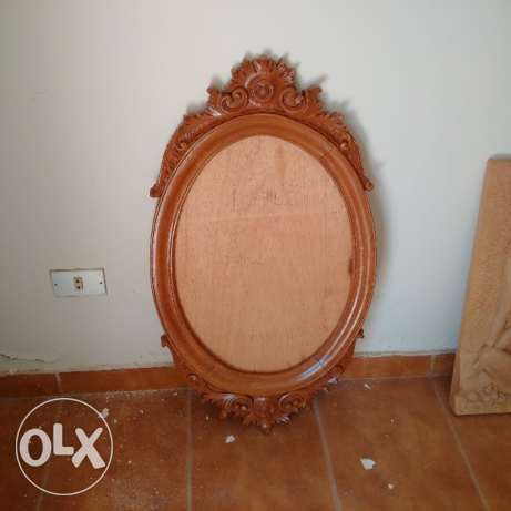 Beautiful Wood Mirror stand