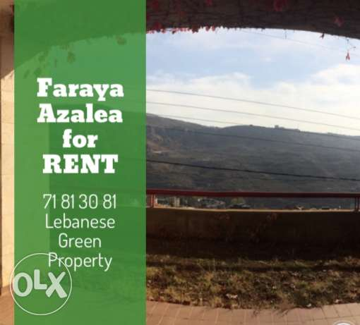 faraya for rent chalet fully furnished seasonal