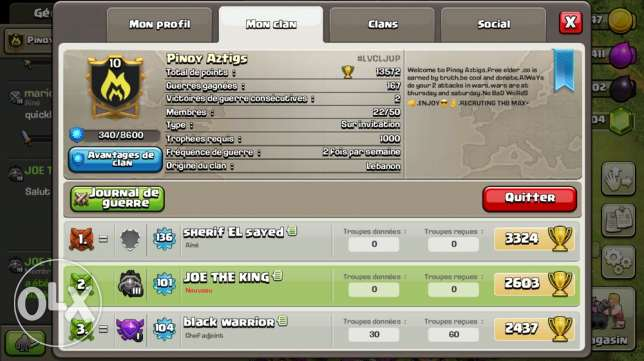 clan in clash of clans