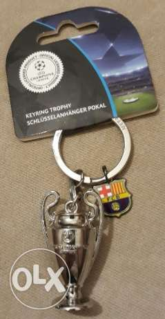 FC Barcelona Key Chain - Champions League Trophy